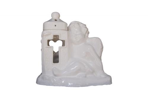 Znicz ceramiczny aniołek