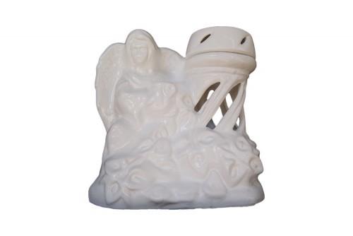 Znicz ceramiczny duży aniołek