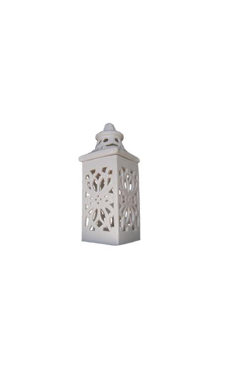 Lampiony ceramiczne do dekoracji domu
