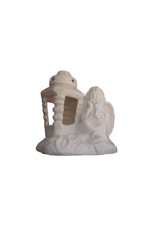 Znicze ceramiczne aniołki
