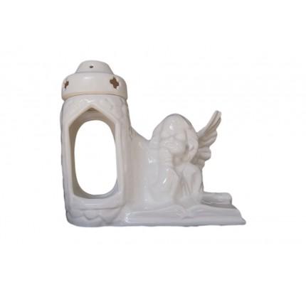 Znicz ceramiczny aniołek z książką