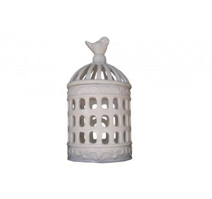 Lampion ceramiczny z ptaszkiem - nowość!