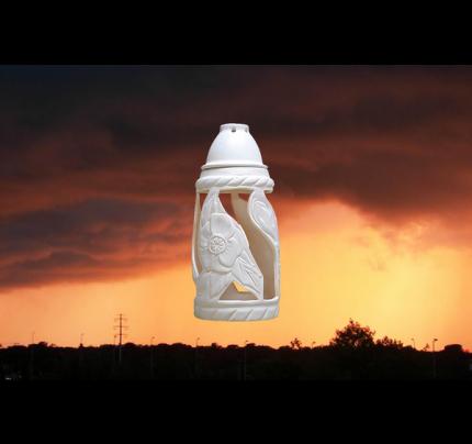 Lampion ceramiczny z kwiatkiem