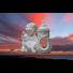 Duży znicz ceramiczny z aniołkiem lewy