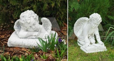 Betonowe anioły i ozdoby sakralne
